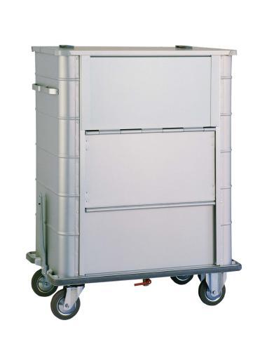 Leichtmetall-Entsorgungswagen 2050-2 mit Graugummiabweisrahmen
