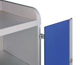 Aufpreis anscharnierte Türen SOLO  A  blaue Kunststofftüren (1000mm)