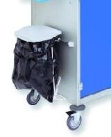 Abfallsammler  für 15-l-Beutel mit Kunststoffdeckel