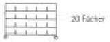 Sortierregalwagen incl. Etikettenrahmen 20 Fächer 290x340 mm, mit 5 Böden