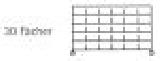 Sortierregalwagen incl. Etikettenrahmen 30 Fächer 290x265 mm, mit 6 Böden