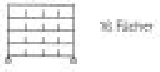 Sortierregalwagen incl. Etikettenrahmen 16 Fächer 290x340 mm, mit 5 Böden