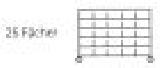 Sortierregalwagen incl. Etikettenrahmen 25 Fächer 290x265 mm, mit 6 Böden