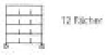 Sortierregalwagen incl. Etikettenrahmen 12 Fächer 290x340 mm, mit 5 Böden