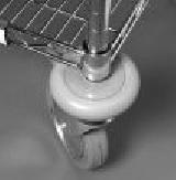 Zubehör für Sortierregalwagen 4 x Stoßsicherungsscheibe/Stück